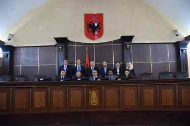 At the Supreme Court of Albania with the Chief Justice.