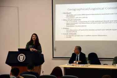 Holly-Webb-2L-presenting-her-research-at-teh-conference W&L Law Students Organize International Anti-Corruption Conference