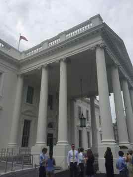 Visiting the east wing of the White House.
