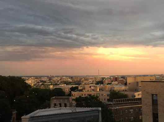 Views from the rooftop of my apartment in DC.