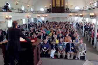 Alumni gathered in Lee Chapel for the presentation of class gifts to the university.