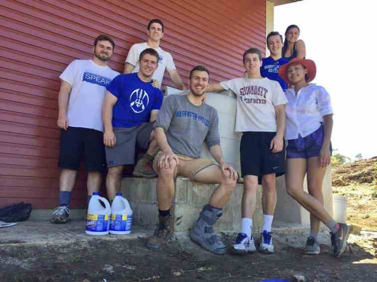 Students in W&L's Engineering Community Development club spent Washington Break building a bio-sand water filter in Belize.