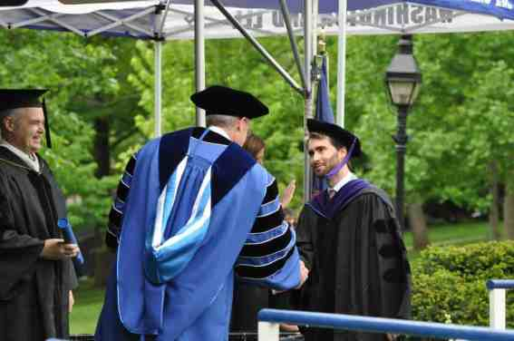 Max Gottlieb receives his degree from President Dudley.