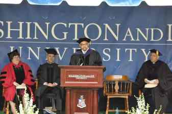 Commencement speaker William Hill '74, '77L