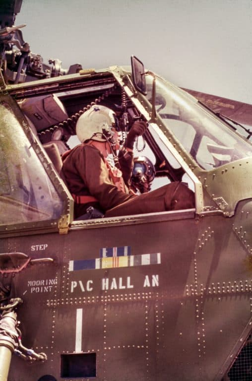 Mac Holladay '67 in the cockpit of his plane. Holladay served in Vietnam as a search-and-rescue pilot.