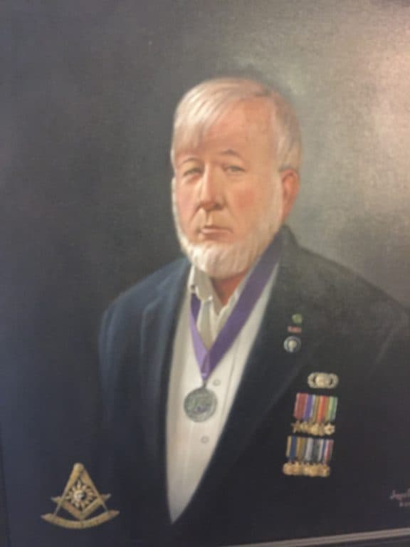A portrait of Bruce Rider '66 in uniform.