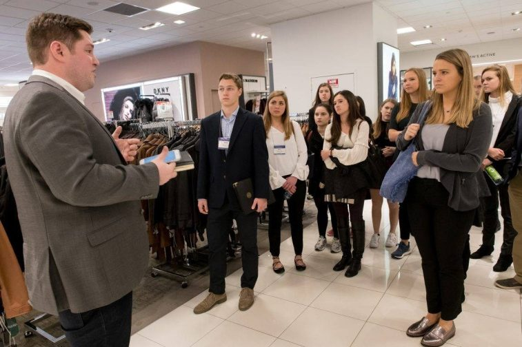 Students on the AdMarComm trip met with experts in the field.