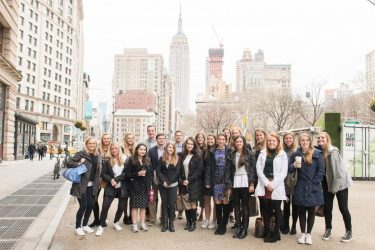 Twenty-nine students interested in the fields of advertising, marketing and communications traveled to New York to receive an in-depth look at those fields.