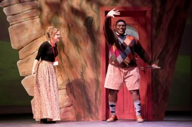 "Arthur Love '18 in the title role in ""James and the Giant Peach."""