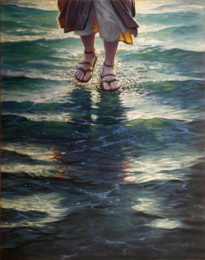 Jesus caminhando nas águas