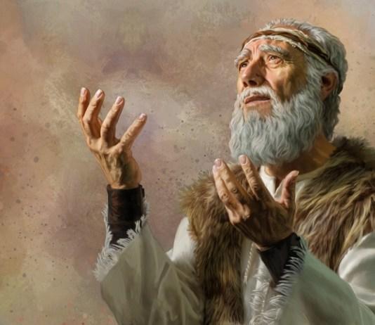 Imagem ilustrativa do profeta Elias em depressão