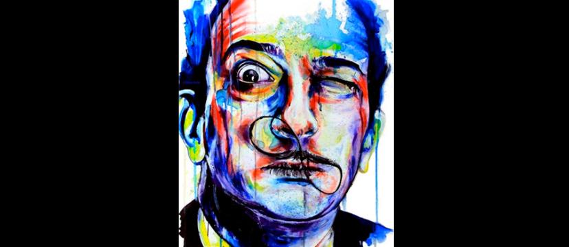 Salvador Dalí em cores vivas.