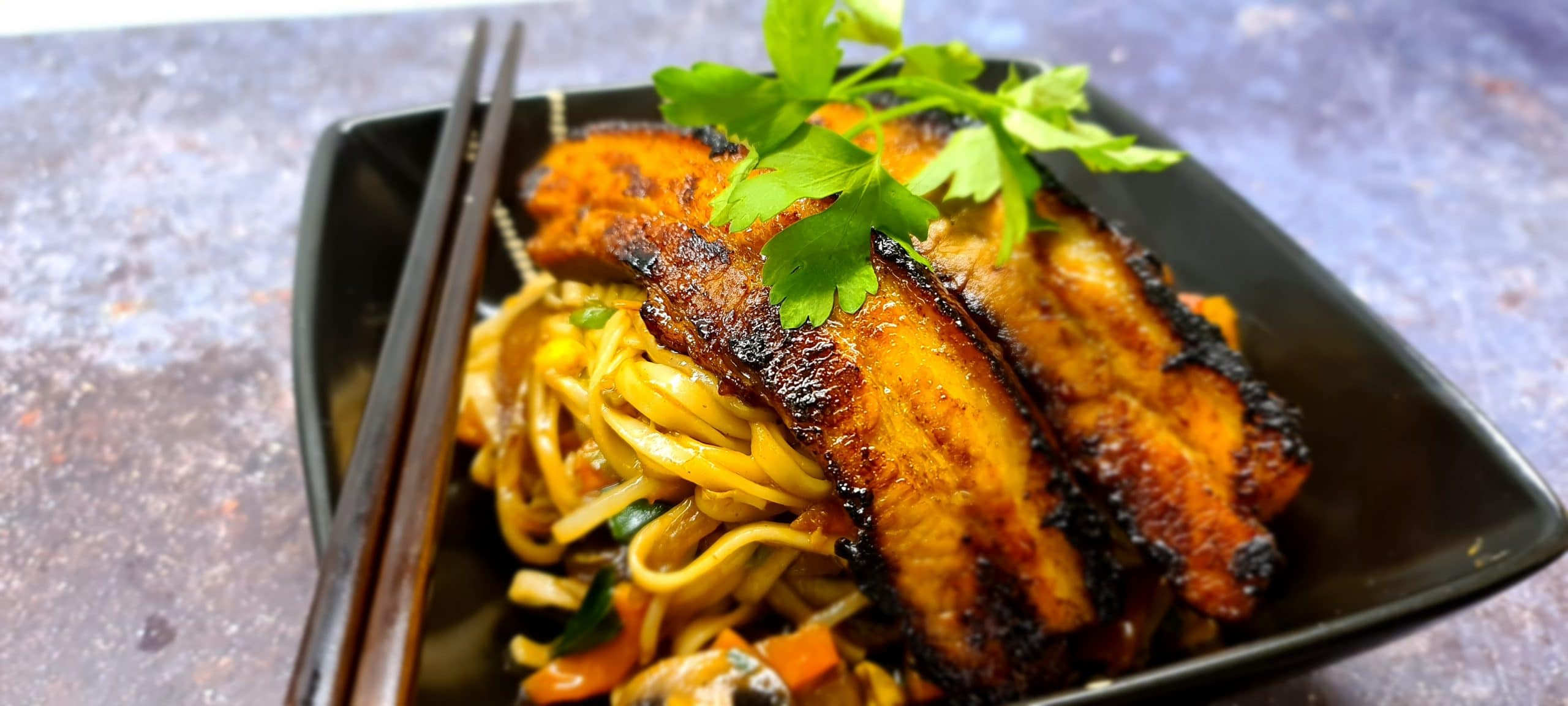 You are currently viewing Stir Fry Udon Noodles with Char Siu Pork