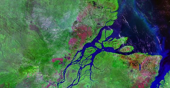 Embouchure de l'Amazone, avril 2008. ©NASA, 2008