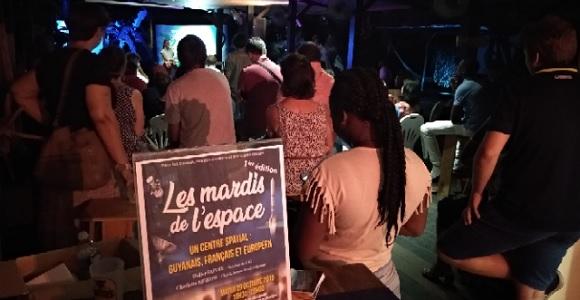 Ambiance du 1er mardi de l'espace le 29 octobre 2019 à Cayenne