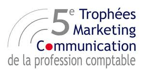 logo 5 trophee d'or marketing communication metier comptable