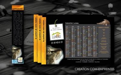 création calendrier pour les voeux d'une entreprise en bâtiment - By com-empreintes6