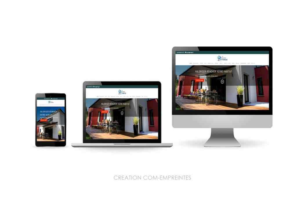 Creation site web responsive sur mesure pour TPE-PME / artisan BTP - By Com' Empreintes