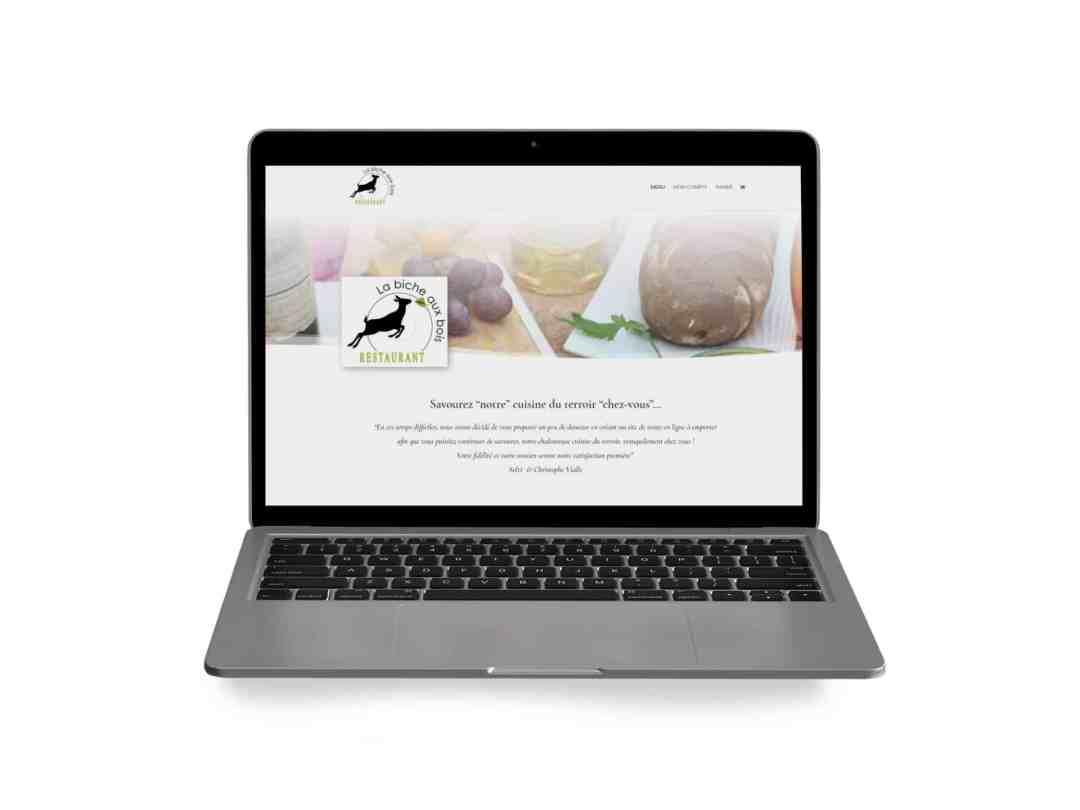 création site click and collect pour restaurant - Par com-empreintes