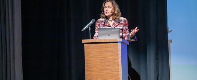 Hilarie Bass at Celebrating Women who Communicate. Photo by TJ Lievonen.
