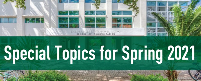 Special Topics for Spring 2021