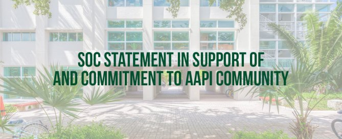 SoC Statement in Support of and Commitment to AAPI Community