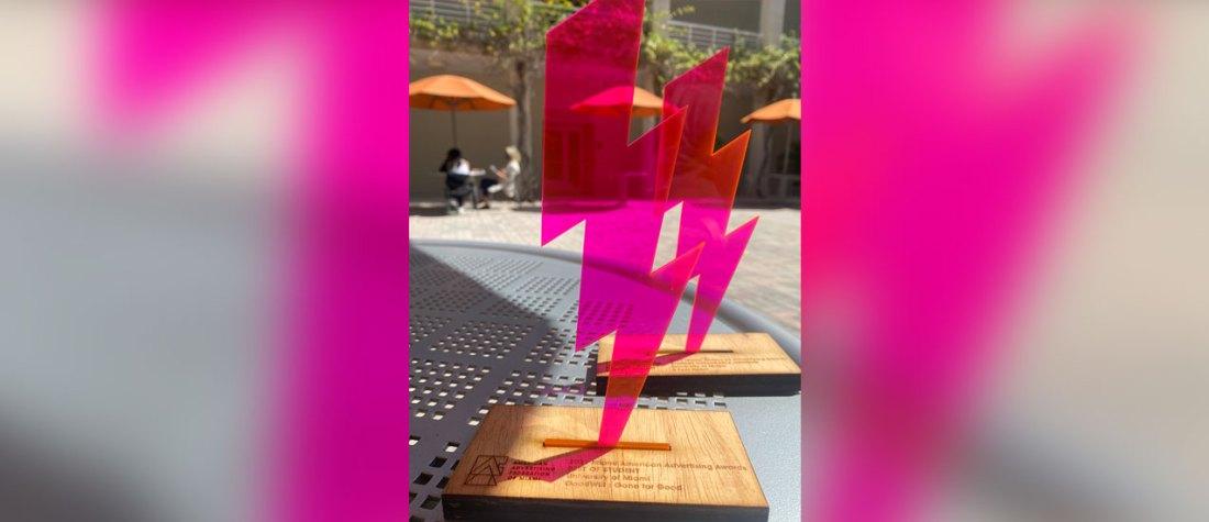 ADDY trophy.