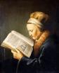 La «Anciana leyendo la Biblia» (1630), de Gerard Dou, es un retrato de la madre de Rembrandt.