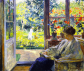 El estadounidense Gari Melchers retrató aquí a una «Mujer leyendo junto a la ventana» (c. 1905).