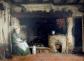 «Anciana leyendo junto al fuego» (1852), de Frederick Daniel Hardy.