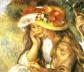 «Dos niñas leyendo en el jardín» (1890), de Renoir.