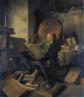 Así imaginó Adolph Schroedter (1805-1875) a «Don Quijote leyendo libros».