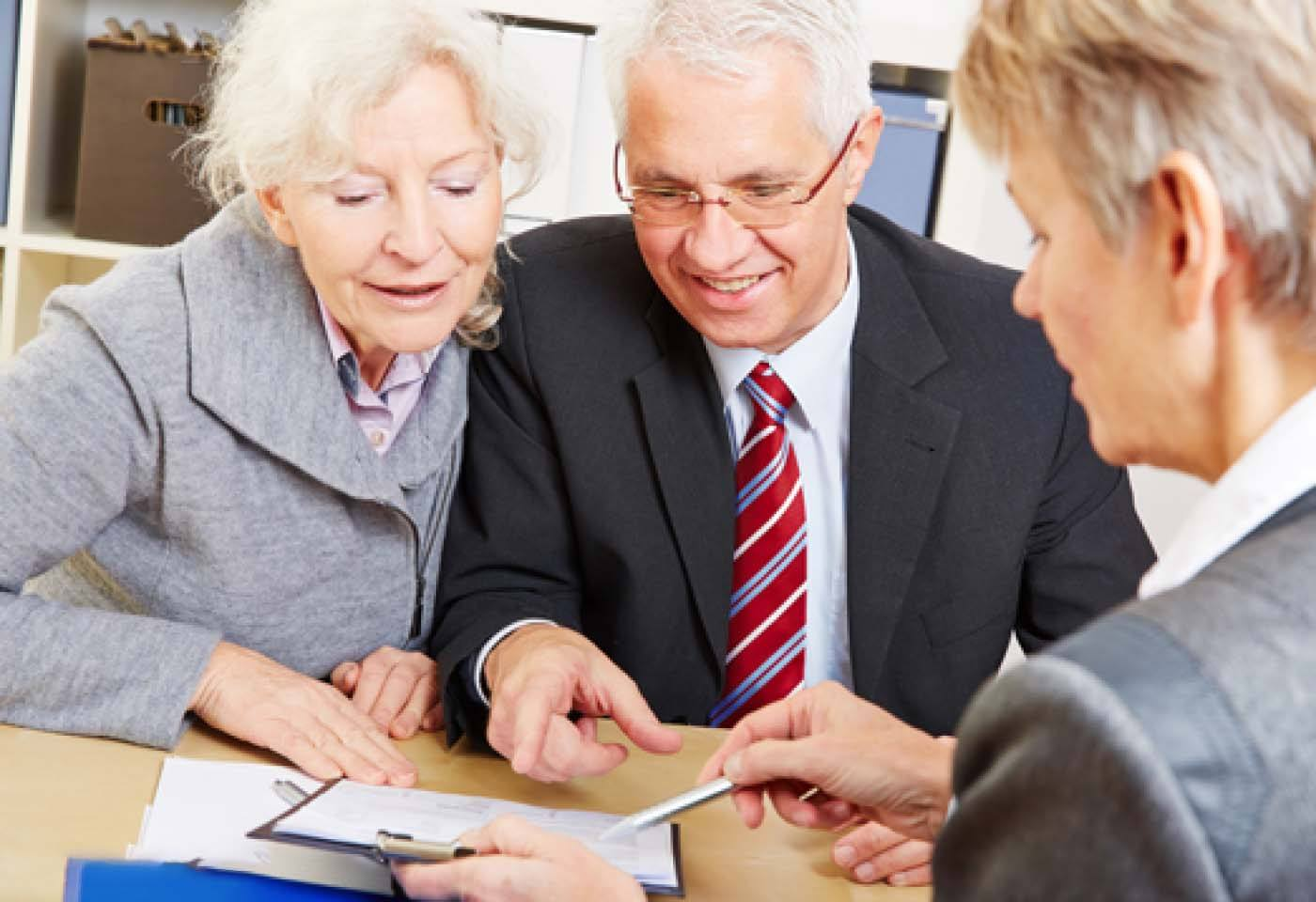 The lawyer consult the two seniors aboutContributory Parent Visas