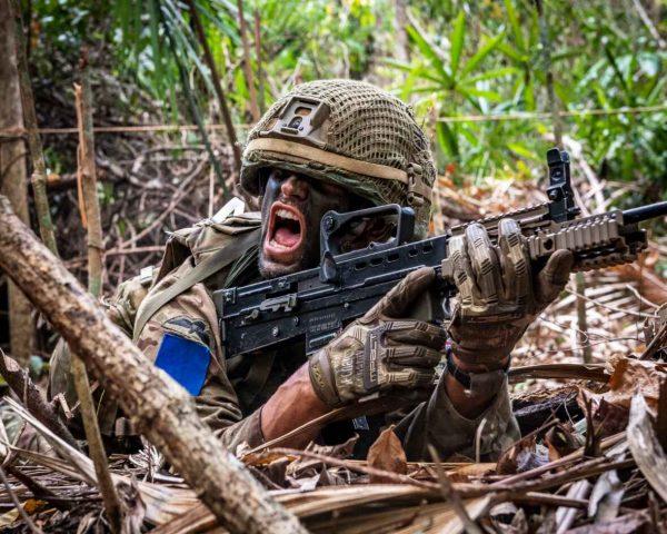 British Army Parachte Regiment 2nd Battalion (2 PARA), A Company, on Ex Mayan Warrior, attack firing (Crown Copyright, 2019) [news][1180]