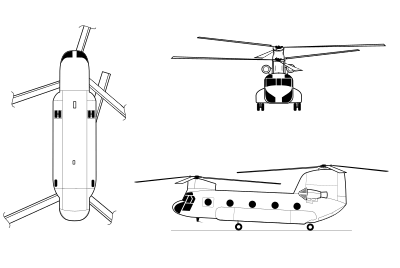 US CH-47 Chinook schematic