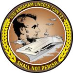 US Navy USS Abraham Lincoln (CVN 72) Badge