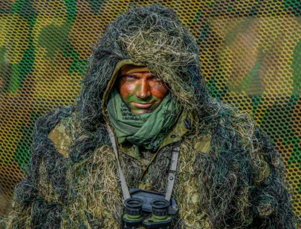Hungarian Army, sniper in ghillie suit, Dynamic Front 19, Grafenwöhr Training Area, 06-03-19 (Christopher Stewart, US Army) [1180]