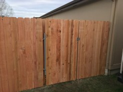 We built additional fencing on the other side of garden area.
