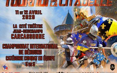 Tournoi de la Citadelle 2020 : inscriptions combattants / fighters registration