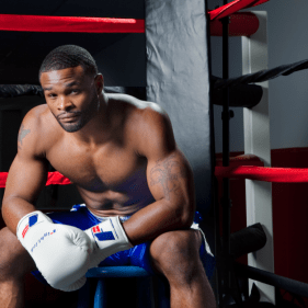Tyron Woodley Sitting in the Ring