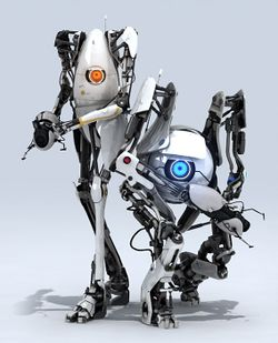 Image result for portal 2 atlas and p-body