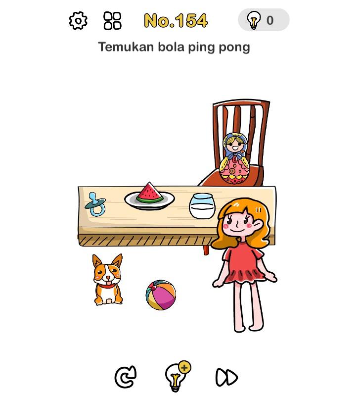 Temukan bola ping pong