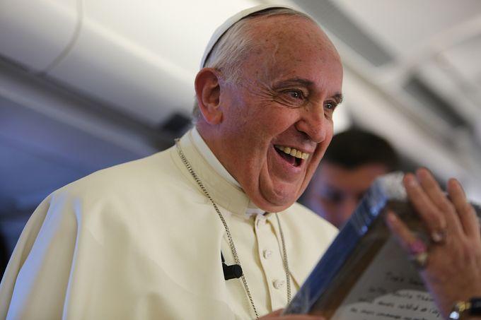 Pope Francis and Santa Teresita