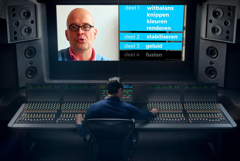 Voorbeeld van een editing console van Fairlight.