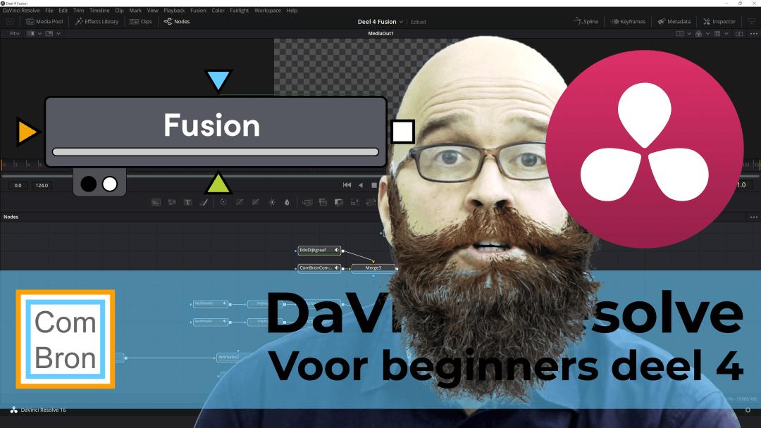 Vlaamse handleiding DaVinci Resolve Fusion voor beginners.