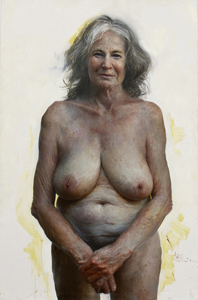 <em>Auntie</em> | oil on canvas | 58 x 38 inches | Aleah Chapin