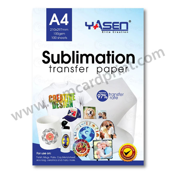 Yasen Sublimation Transfer Paper A4 Size 100gsm 100 Sheets | 2 Packs