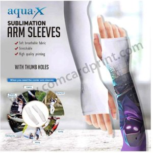 [with Thumb Holes] Sublimation Printable Arm Cover Cooling Sleeve Blanks (Pair)