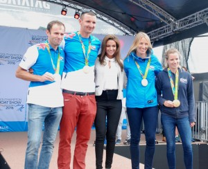 Michelle Keegan and Olympic sailors