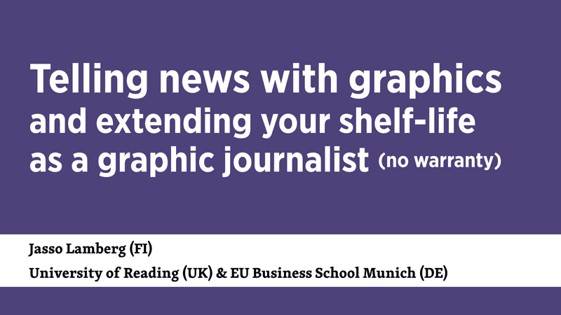 Telling news with graphics and extending your shelf-life as a graphic journalist
